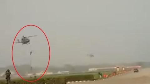 Rope snaps armymen slither down Dhruv chopper, three injured