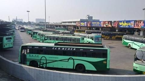 Thousands of TN buses on strike over 0.13% wage hike