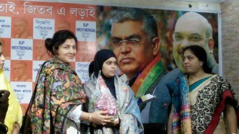 Triple talaq crusader Ishrat Jahan joins BJP in Bengal