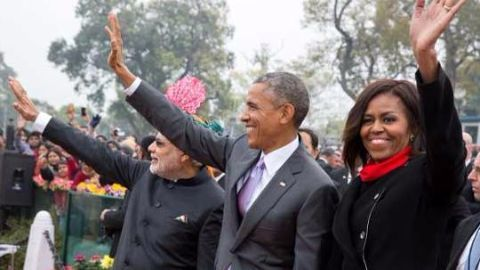 An all-women contingent at Republic Day parade