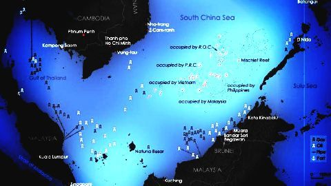 US says South China Sea 'international waters'