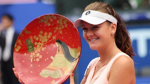 Agnieszka Radwanska bags 2015 WTA singles trophy