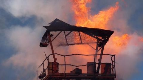 Pak boat blows up off Gujarat coast