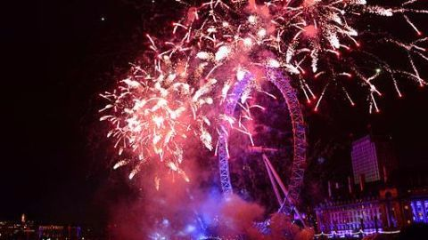 Britain welcomes new year with London eye fireworks