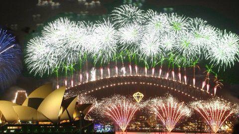 Massive fireworks at Sydney Harbour