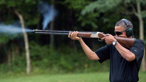 Obama takes a shot at gun control