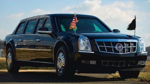 New US President limo seen undergoing secret tests