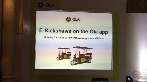 Ola e-rickshaws to hit Delhi streets