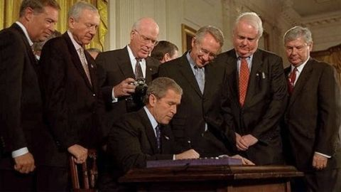 A panicked Bush administration passes the Patriot Act