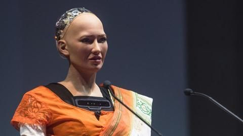 Worlds first robot citizens India debut at IIT Bombay