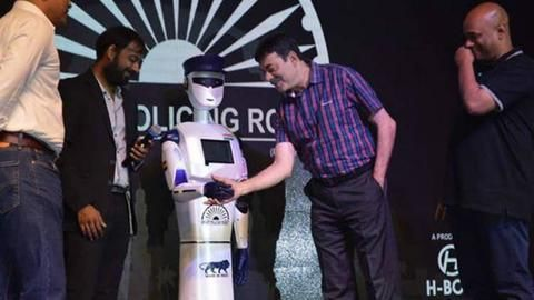 Indias first Robocop launched in Hyderabad, named after 26/11 martyr